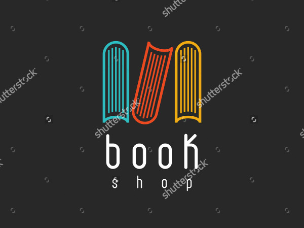 Book Shop Logo Mock-Up