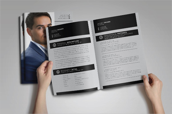 Booklet Resume Template