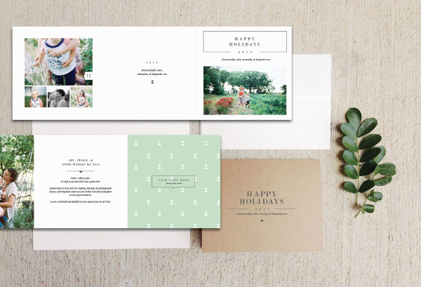 Digital Holiday Card Templates for Photographers