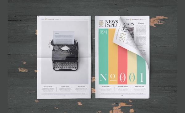 Free Branding Newspaper PSD Mockup Download