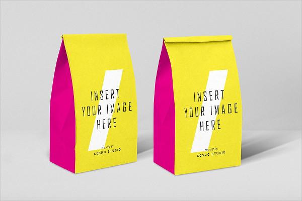 Branding Paper Bags Mockups PSD