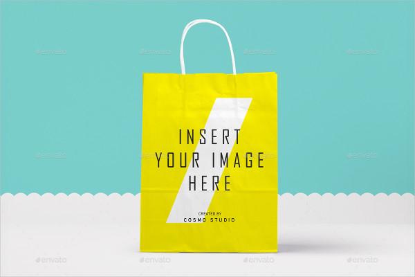 Branding Paper Bags Mockup PSD