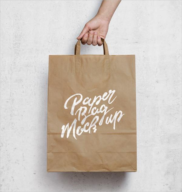 Brown Paper Bag Mock-Up Free PSD