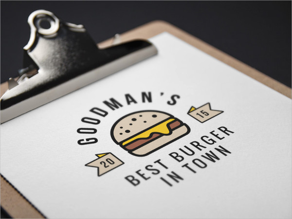Burger Logo Mock-Up