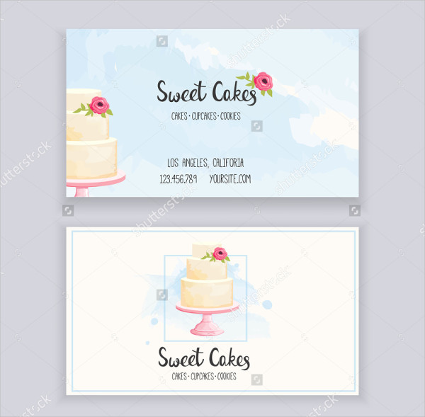 Printable Bakery Business Card Templates