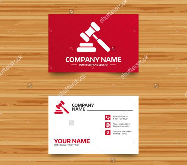 Judge Business Card Template