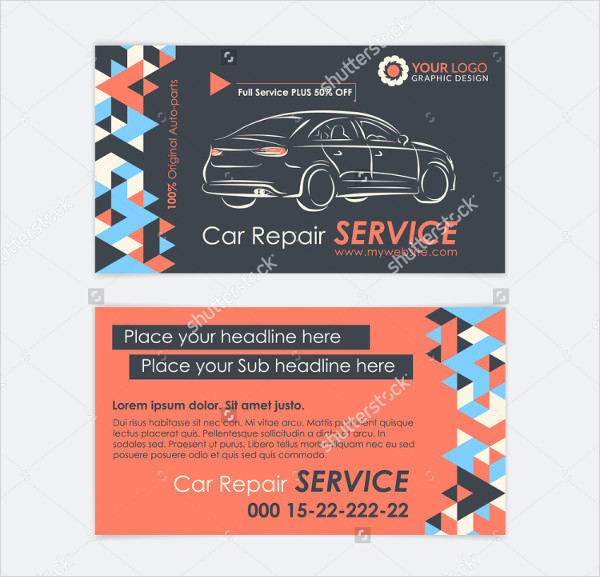 Automative Services Business Card Template