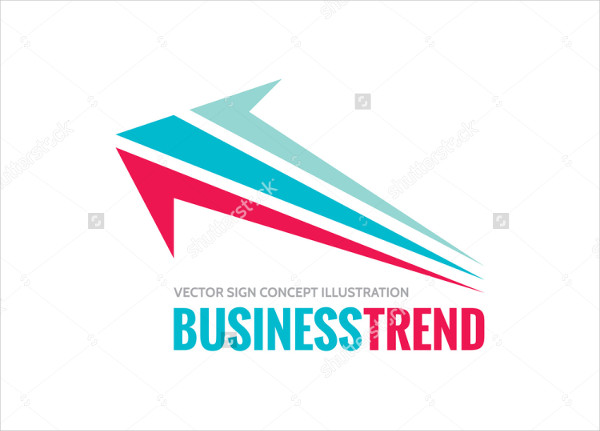 Classic Growth Arrow Logo Vector