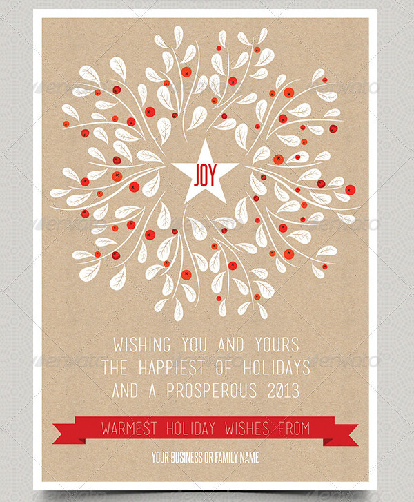 Business Holiday Card Template
