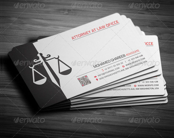 Printable Law Office Business Card Template