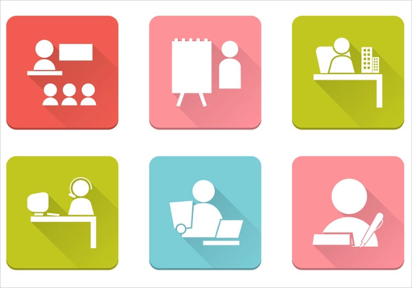 Business People Icons in Vector Pack