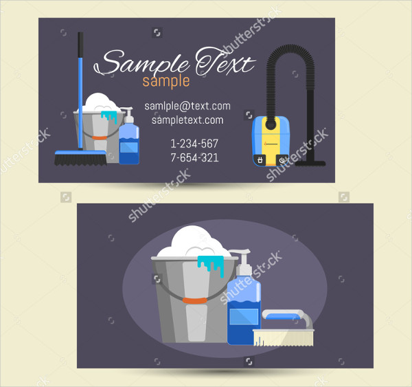 Business Card Template for Cleaning Service