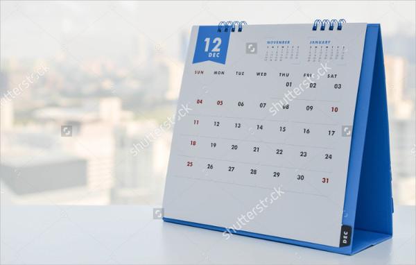 Calendar Mock-Up Illustration