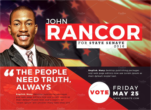 Professional Political Candidate Flyer Template