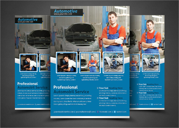Professional Auto Repair Service Flyer Template