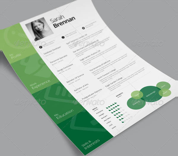 One Page Resume Template Free Download: 21+ Sample One Page Resume Templates