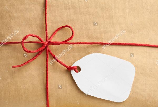 Blank Gift Box Tag