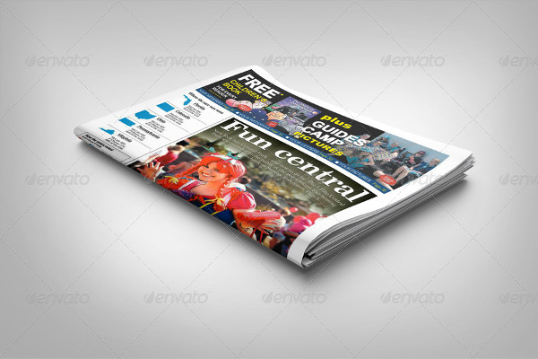 Newspaper Front Page Mockup