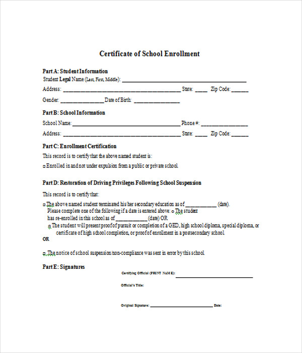 School Certificate Templates - 7+ Free Word, PDF Documents ...