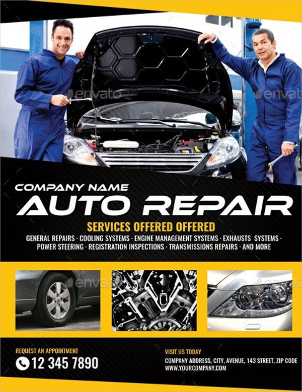 Perfect Auto Repair Flyer Template