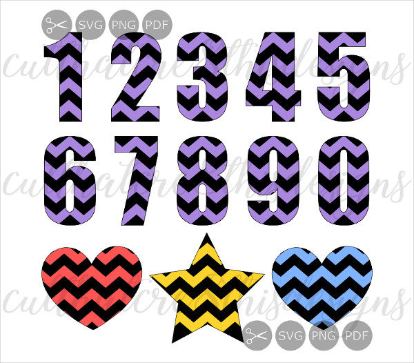 Chevron Pattern Numbers & Shapes