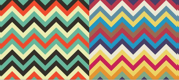 Set of 6 Chevron Pattern Designs