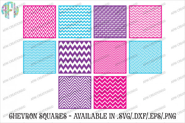 Chevron Pattern Squares