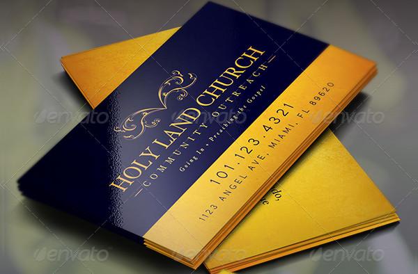 Church Scripture Business Card Template
