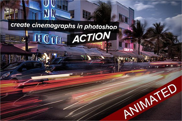 Cinemagraph Animated Photoshop Action