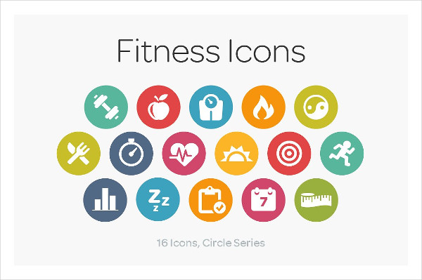 Circle Icons for Fitness