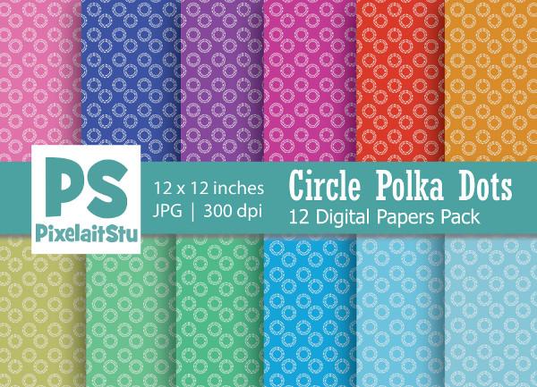 Circle Polka Dots Pattern