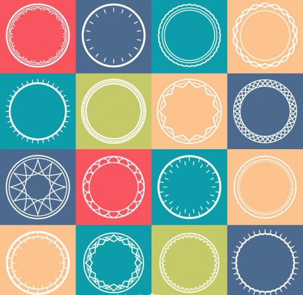 Circles Pattern Vector Free