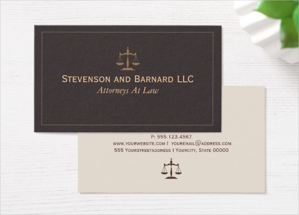 Classic Lawyer or Attorney Business Card Template