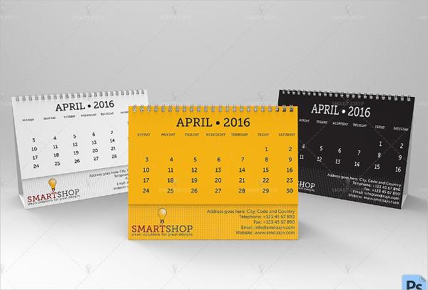 Classic Desktop Calendar Mockups