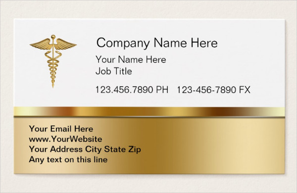 Classy Medical Business Card Template
