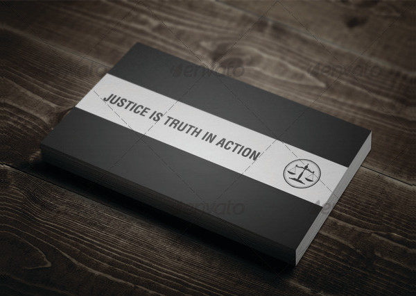 Clean Justice Business Card Template