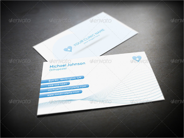 Clean Health Care Business Card Template