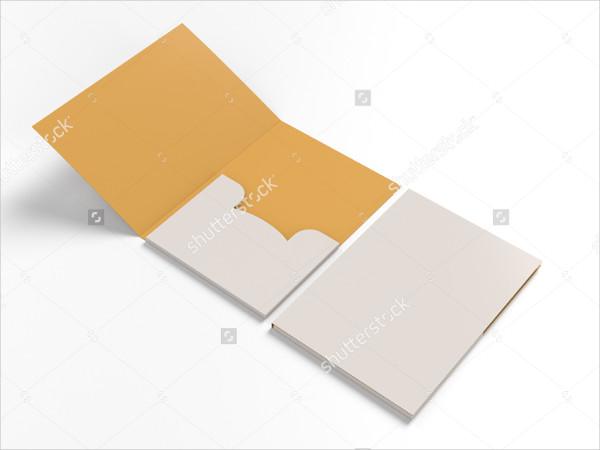 Closed & Open Mock-Up Folders