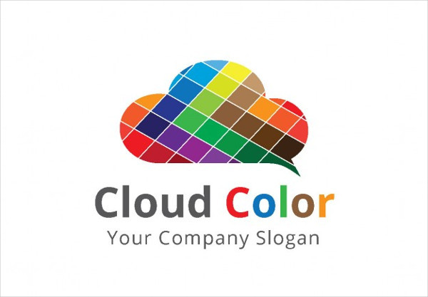 Logo With Colorful Squares Cloud