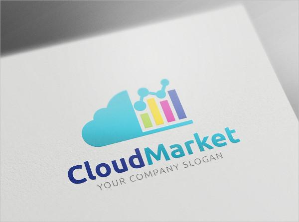 Cloud Market Logo Template