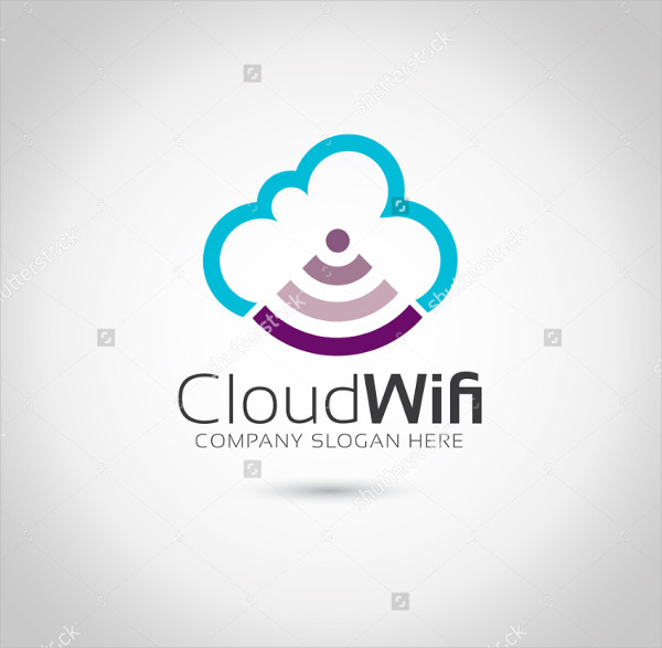 Cloud WIFI Logo Template