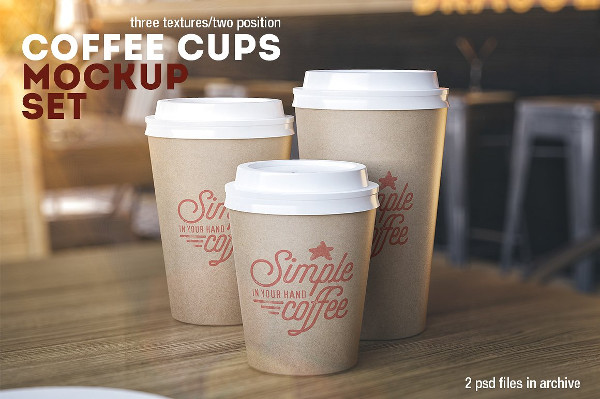 Clean Coffee Cups Mock-Up Set