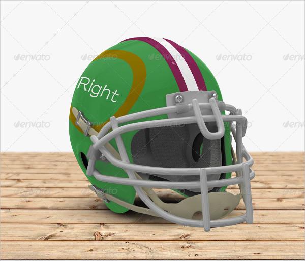 Colorful Football Helmet Mock-up Photoshop