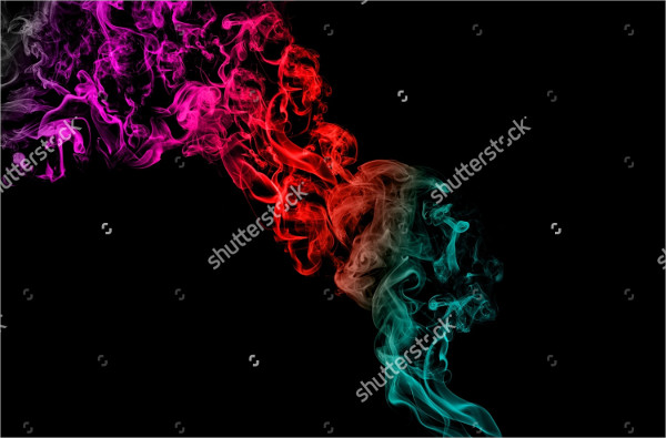 Smoke Texture Brush with Colors