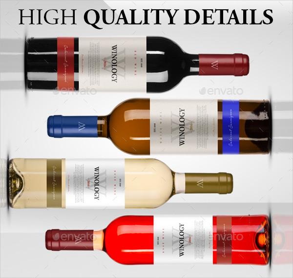 Colorful Wine Bottle Mock-Ups