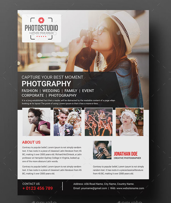 Commercial Photographer Flyer Template