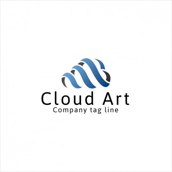Free Vector Cloud Art Logo Template