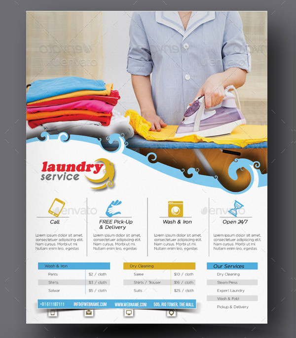 Printable Laundry Flyer Template