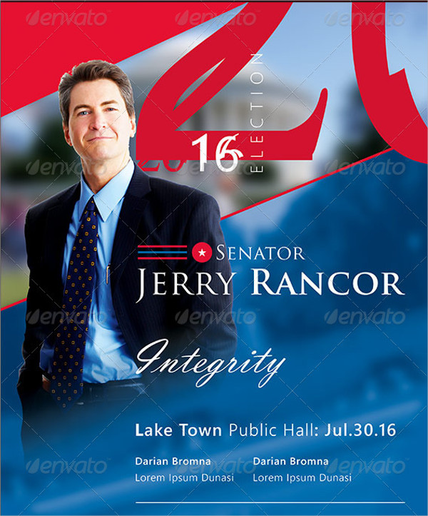 Political Election Flyer Template