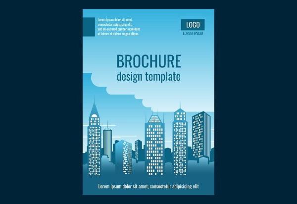Construction Business Brochure Template Design